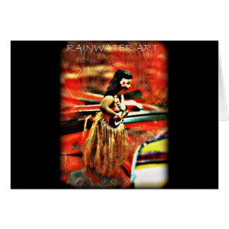 Chica de Hula de la hawaiana Tarjeta De Felicitación