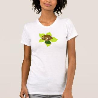 Chica de Hula hawaiano del hibisco de las mieles Camisetas