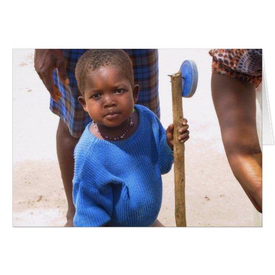 Chica de Kotokro con el juguete Tarjeta De Felicitación