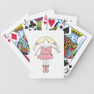Chica de la bailarina baraja de cartas bicycle