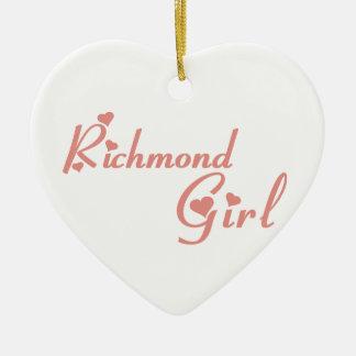 Chica de la colina de Richmond Adorno De Cerámica