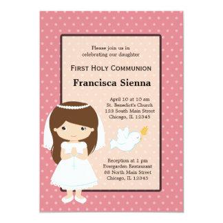 Chica de la comunión santa * elija su color de invitación 12,7 x 17,8 cm