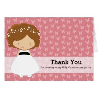 Chica de la comunión santa * elija su color de tarjeta de felicitación