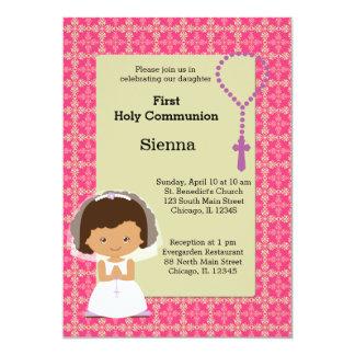 Chica de la comunión santa invitación 12,7 x 17,8 cm