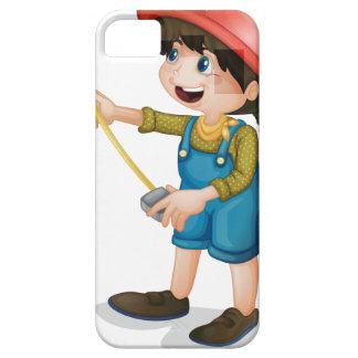 Chica de la construcción iPhone 5 Case-Mate protector