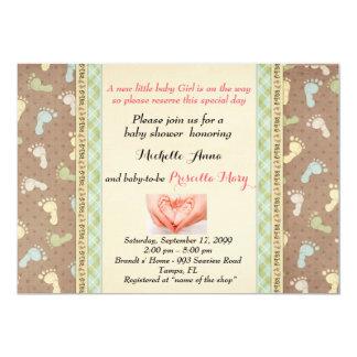 CHICA de la fiesta de bienvenida al bebé, diseño Invitación 12,7 X 17,8 Cm