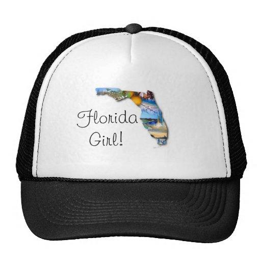 chica de la Florida Gorro