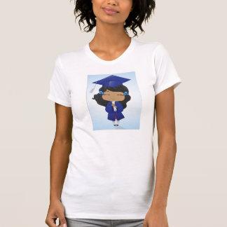 Chica de la graduación camiseta