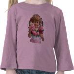 Chica de la guirnalda del rosa del Victorian Camisetas