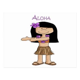 Chica de la hawaiana postal