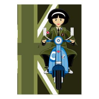Chica de la MOD de los años 60 en abrigo esquimal  Plantilla De Tarjeta De Visita
