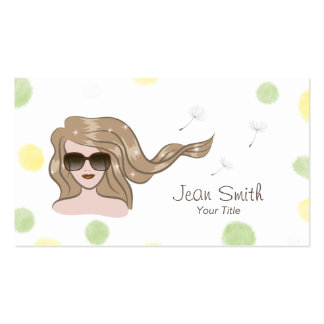 Chica de la moda en tarjetas de visita de la