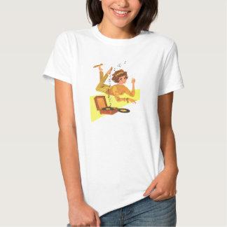 chica de la música de los años 60 camisetas