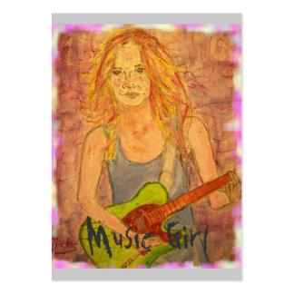 Chica de la música plantilla de tarjeta de visita