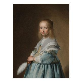 Chica de la postal en verspronck azul