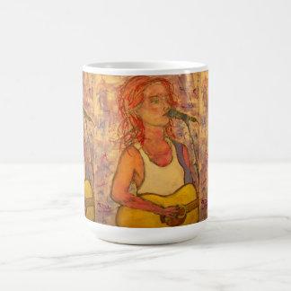 Chica de la roca taza de café