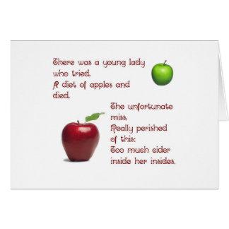 Chica de la sidra de Apple Tarjeta De Felicitación