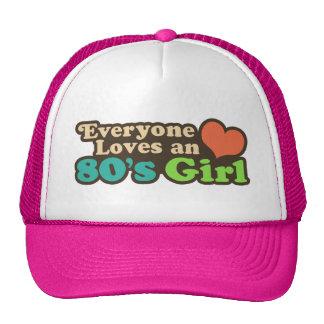 chica de los años 80 gorras de camionero