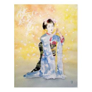 Chica de Maiko -2 Postal