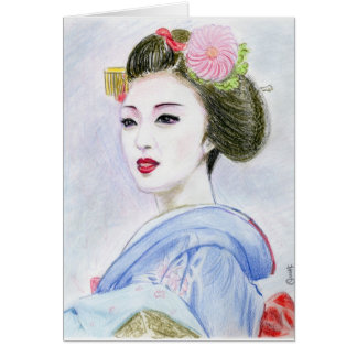 Chica de Maiko Tarjeta