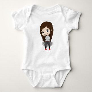 Chica de moda - mono del bebé - el hacer juego de body para bebé