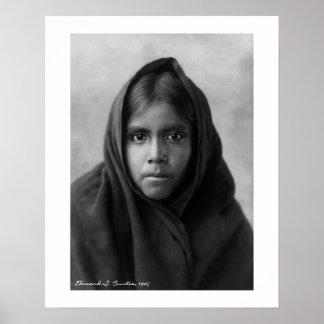 Chica de Qahatika de Edward S. Curtis 16 x 20 Póster