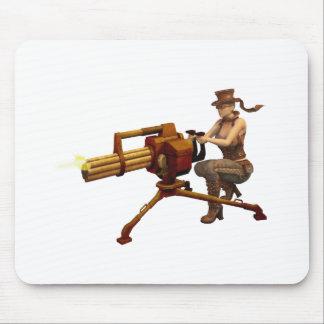 Chica de Steampunk con el arma Alfombrilla De Ratón