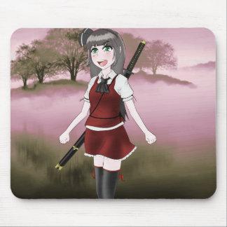 Chica del animado con la espada Mousepad