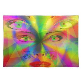 Chica del arco iris salvamanteles