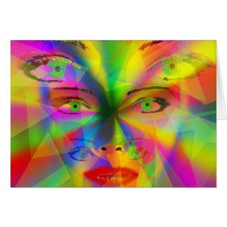 Chica del arco iris tarjeta de felicitación