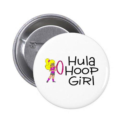 Chica del aro de Hula Pin