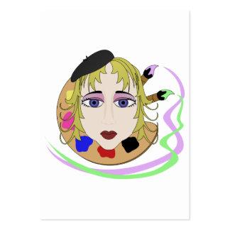 Chica del artista con los ojos azules plantillas de tarjeta de negocio