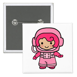 Chica del astronauta pin