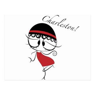 Chica del bailarín de Charleston Postal