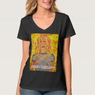 chica del batería de la terapia del tambor camiseta