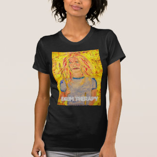 chica del batería de la terapia del tambor camisetas