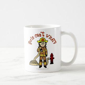 Chica del bombero taza de café