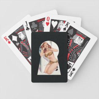 Chica del calendario barajas de cartas