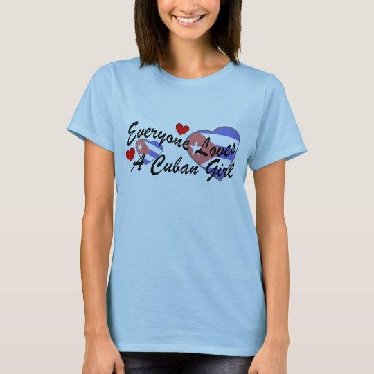 Chica del cubano de los amores camiseta