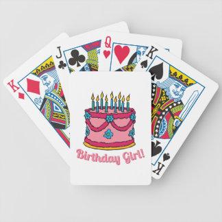 Chica del cumpleaños cartas de juego