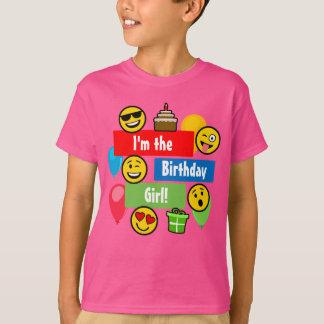 Chica del cumpleaños de Emoji Camiseta