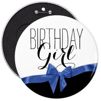 Chica del cumpleaños del arco de Blue Ribbon Pin