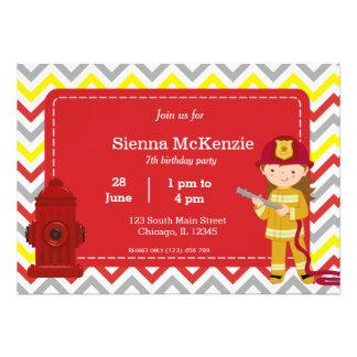 Chica del cumpleaños del bombero comunicados