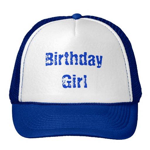 Chica del cumpleaños gorra