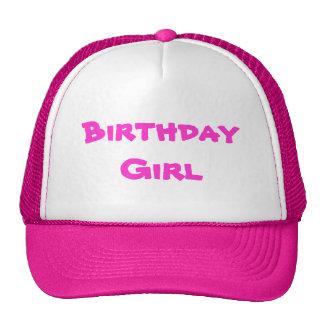 Chica del cumpleaños gorras de camionero