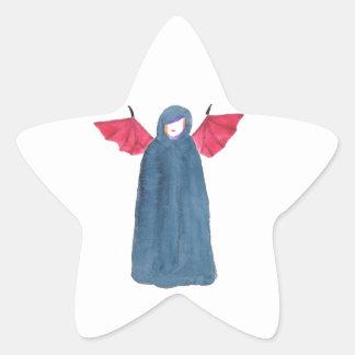 Chica del demonio pegatina en forma de estrella