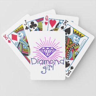 chica del diamante, gema que brilla baraja de cartas bicycle