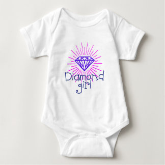 chica del diamante, gema que brilla body para bebé