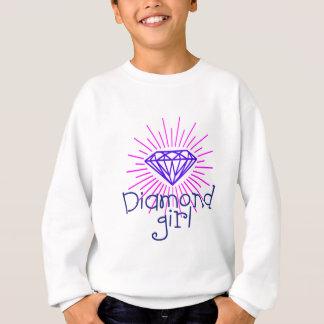 chica del diamante, gema que brilla sudadera