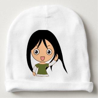 Chica del dibujo animado - gorra de los chicas gorrito para bebe